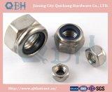Écrous de blocage en nylon Hex (acier inoxydable DIN985)