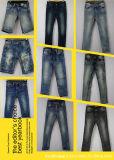 Ausdehnungs-Denim-Fußleisten für kleine Mädchen (L44254-315)