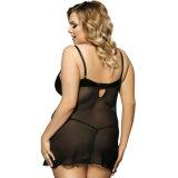 L'OEM en gros du dessus 2017 entretient chaud sexy noir de marque plus la lingerie de taille