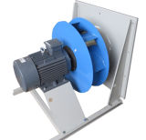 Ventola d'acciaio curva a rovescio che si raffredda, ventilazione, scarico, ventilatore centrifugo (225mm)