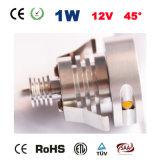 lámpara de la escalera de la MAZORCA LED de la luz del paso de progresión de la iluminación 1W 12V LED del punto de 1W 12V