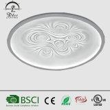 Blumen-Muster-Decken-Kreislampen des Originalität-moderne Fiberglas-LED eingelegte