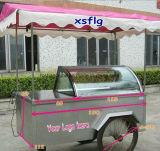 Carro do gelado Carts//Ice/refrigerador de creme móveis gelado