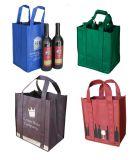 非編まれたワイン・ボトルは袋を運ぶ