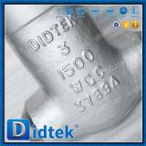 Soupape à vanne soudée bout à bout de joint d'étanchéité Class1500 de Didtek A216 Wcc
