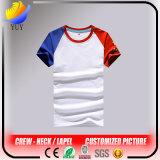 대원 목 또는 접어젖힌 옷깃 다색 주문을 받아서 만들어진 로고 성인 t-셔츠