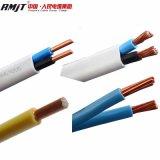 Fio liso de cobre do cabo elétrico do cabo do revestimento de PVC do núcleo de BVVB