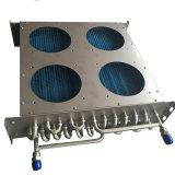 Evaporador aire acondicionado inoxidable del cambiador de calor del tubo con la cubierta