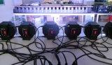 Luz da PARIDADE do diodo emissor de luz da carcaça plástica mini 70W RGBW do controle do som