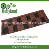 Azulejo de azotea de acero con la piedra cubierta (tipo de la ripia)