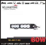 """単一の列11.5の"""" 60Wコンボのビーム4X4クリー族オフロードLEDの点のライトバーWL8017 60 (LED-LIGHT-BAR)"""