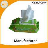 Рот и руки нюха зеленого чая очищая Wipe
