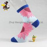Madame populaire Cotton Socks de bagout de tournesol de chaussettes de mode de femme