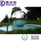 Gran hueco de acero inoxidable bola exterior fuente de agua para el patio