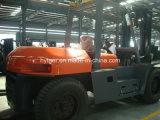 klemmt Dieselgabelstapler 10ton mit Schaumgummi-Gummi Fd100t fest