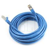cable blindado doble 600MHz de la corrección de la alta calidad Cat7 SSTP de los 60FT