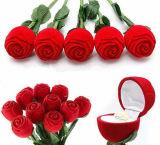 Het huwelijk nam de Bloem Gevormde Doos van de Juwelen van de Ring van de Oorring Fluweel Bijeengekomen toe