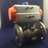 空気アクチュエーターを搭載するステンレス鋼2PCの浮遊球弁