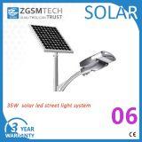 30W에서 120W 승인되는 세륨을%s 가진 태양 LED 가로등 100W 태양 빛에