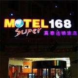 Scheda acrilica su ordinazione del segno dell'hotel di pubblicità esterna LED