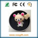 Drive USB mou chaud d'animal de PVC d'ours de nounours de cadeau promotionnel