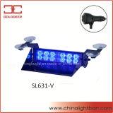 Indicatore luminoso blu della visiera del parabrezza dell'indicatore luminoso d'avvertimento dell'ambulanza LED (SL631-V)
