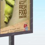 形作る屋外広告の回転通りDiaplsyライトボックスを広告する