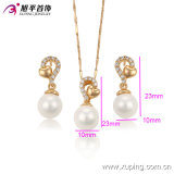 La Cina Wholesale Xuping Newest 18k Gold Plated Luxury Pearl Jewelry Set