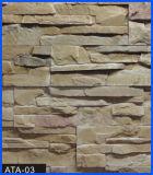 Revêtement en pierre, pierre de revêtement, pierre concrète, pierre artificielle, pierre manufacturée (ATA-03)