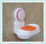 Стена ванной комнаты домочадца выдалбливает вне пластичный держатель тарелки мыла чашки всасывания