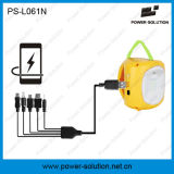 Lanterna della soluzione 4500mAh 6vsolar di potere con il caricatore del telefono per il campeggio o l'illuminazione di soccorso per la stanza