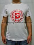 T-shirt blanc de Mens d'impression de collet rond de bonne qualité bon marché en gros chaud d'été