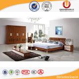 Insiemi di camera da letto di legno di stile semplice americano di buona qualità (UL-CH002)