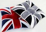 Het Engelse Kussen van de Zetel van het Flanel van de Vlag Grijze Vacht Afgedrukte