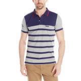 Streifen-Pikee-Polo-Hemd der Fabrik-Export-Männer