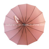 Modo Straight Auto Open Umbrella con Pongee Solid Fabric