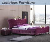 Suites de chambre à coucher de luxe du Roi Bed de tissu du modèle A04