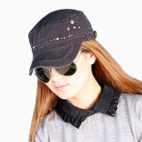 New Lady Rhinestones Fashion Military Army Street Leisure Caps