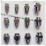 Connecteur pneumatique de Kjh d'acier inoxydable