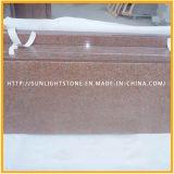 台所および浴室のための磨くTianshanの赤い花こう岩階段床タイル