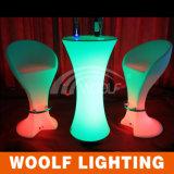 커피용 탁자 LED 둥근 탁자 높은 쪽으로 재충전용 플라스틱 LED 점화