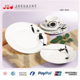 Servicio de mesa de la porcelana modificado para requisitos particulares (JSDP-012)