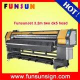 頑丈なFunsunjet Fs3202k 3.2m/10FT Flex BannerおよびSav Vinyl Sticker Printing 1440dpi Cheap PriceのためのDx5 Head Eco Solvent Printer