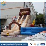 La venta caliente embroma el agua inflable de la diapositiva del juego, diapositivas inflables al aire libre para los cabritos