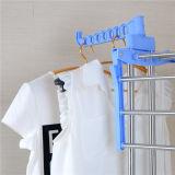 Acier inoxydable de couleur bleue de qualité trois vêtements se pliants de couche séchant la crémaillère Jp-Cr300wms