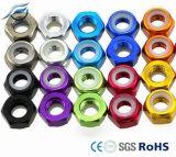 Écrou de blocage à flasque par 3mm anodisé coloré de l'aluminium 6061-T6