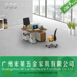 Mesa de escritório da equipe de funcionários do frame do pé do metal do preço atrativo com gabinete