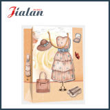 Bolso de Dress Fashion Shopping Gift del papel de marfil de señora laminada mate