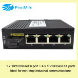Interruptor industrial Unmanaged com 1 Fe e 4 portas de Tx