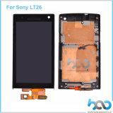 Первоначально новая индикация LCD ремонта экрана для цифрователя Сони Lt26 с рамкой